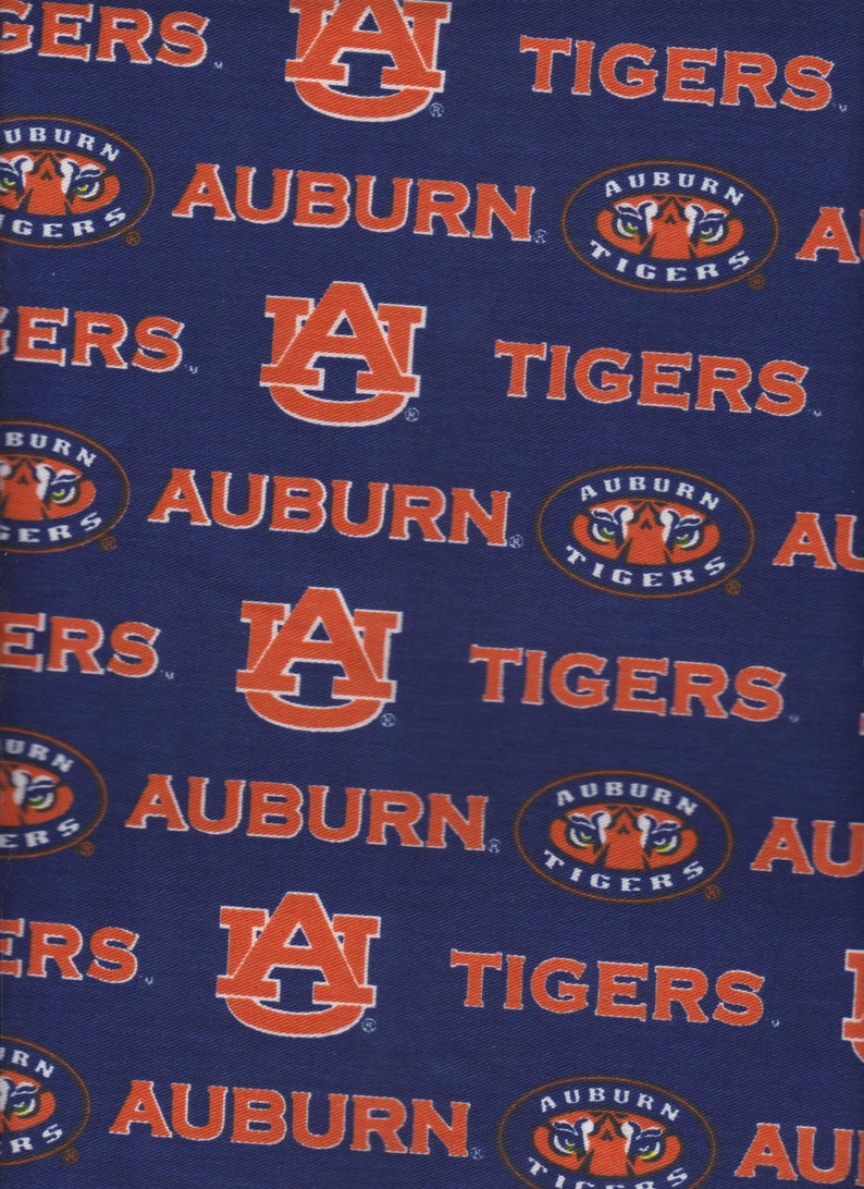 Auburn University Tigers NCAA Canvas Twill (Duck) 58-60 inches wide 100%  Cotton Fabric AU-250