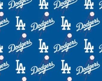 Los Angeles Dodgers MLB LA 60 inch wide 100% Cotton Fabric MLB-6642B