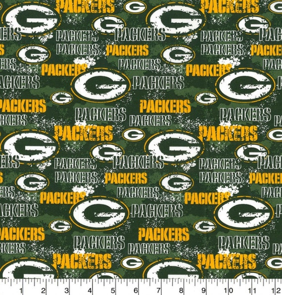 Creatieve Hobby S Nfl Mini Print Green Bay Packers Fabric 100 Cotton 58 Wide New By The Yard Sotrim Tn
