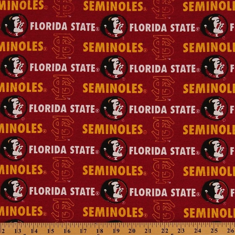 Florida State Seminoles NCAA FSU Canvas Twill (Duck) 55-60 inches wide  Fabric FSU-250