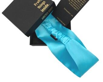 Turquoise silk headband