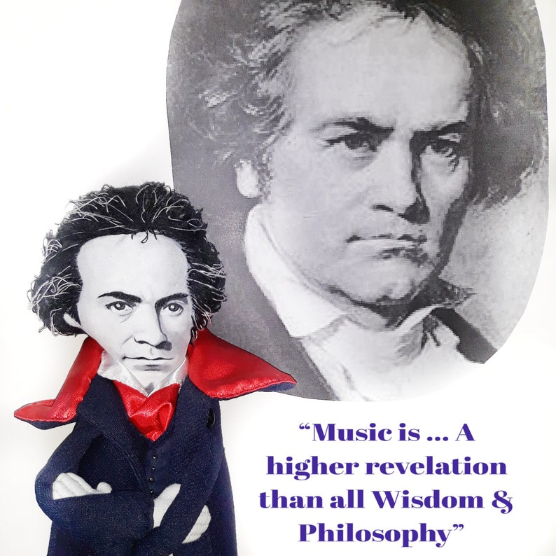 Beethoven doll, Classical Composers - Music teacher gift