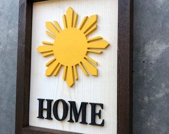 Philippines Filipino Flag Home Star Wall Decor Cut Out Rustic Farmhouse Housewarming