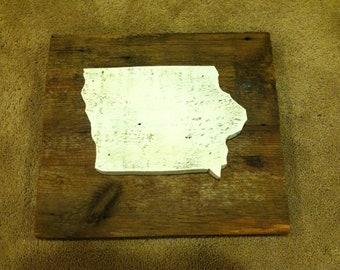 Iowa White Washed on Reclaimed Barn Wood - Real Reclaimed Barn Wood
