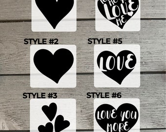 Hearts Vinyl Decal / Sticker for Laptop, Car, Window / Heart Silhouette / Tell Me You Love Me / Love You More / Love Heart Decal / Cute <3