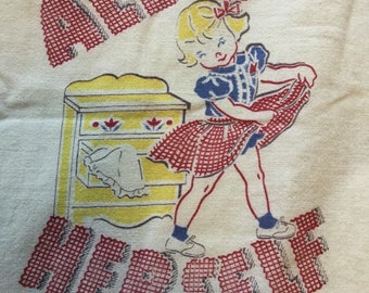 Vintage Fabric All by Herself Kay Clark A Plakie Product 1950 Youngstown