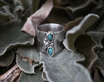 Silver and Turquoise Statement Ring