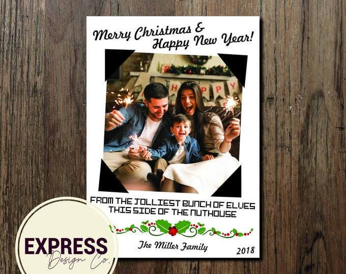 Photo Jolliest Bunch of Elves in the Nuthouse Christmas & New Years Card