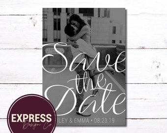 Save the Date Engagement Photo Card