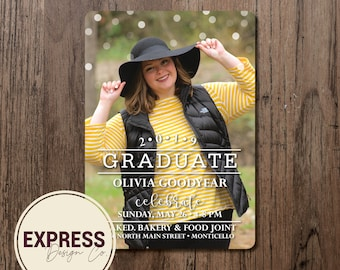 Polka Dot Grad Party Invitation
