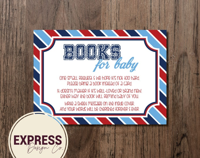 Sandlot Baseball Baby Shower Invitation, Books for Baby, Book Instead of Card