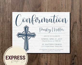 Boy or Girl Confirmation Invitation