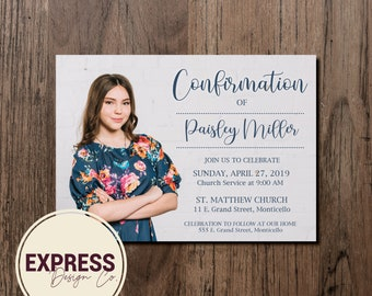 Confirmation Party Photo Invitation