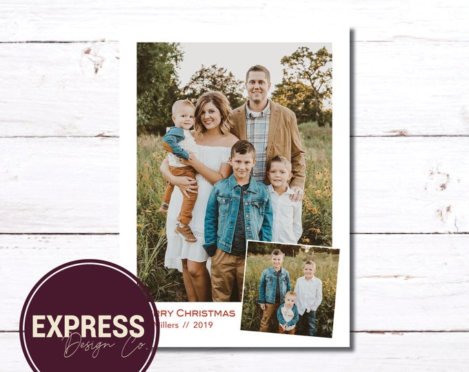 Simple & Classy, Family Photo Christmas Card