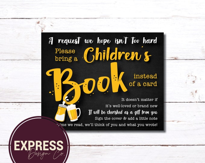 A Baby is Brewing Books for Baby Card