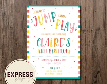 Jump and Play Birthday Party Celebration Invitation