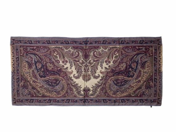 Etro Silk + wool scarf in Baroque Pasley Motif