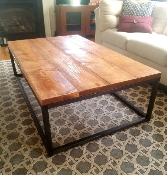 Rustic wooden coffee table - Rustic Living room table - Modern style coffee  table.Sofa table. End table. Rustic table.Cedar wood. Coffee