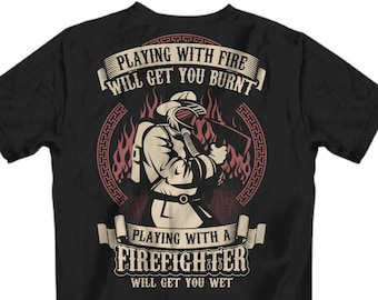 96c11dd0 Firefighter gift for him, Firefighter T Shirts, Firefighter gift,  Firefighter boyfriend, Firefighter, Fireman gifts, Fireman T shirt