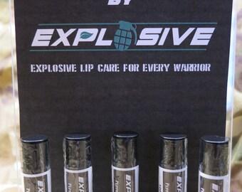 Handmade Lip Balm - Explosive 'Man Down' - Multiple Flavours