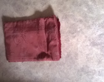 Red vintage bed cover