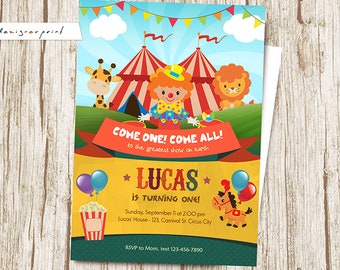 Carnival Invitation FREE Thank You Card