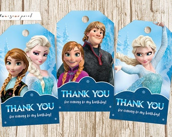 graphic relating to Frozen Printable Labels titled Frozen want tag Etsy