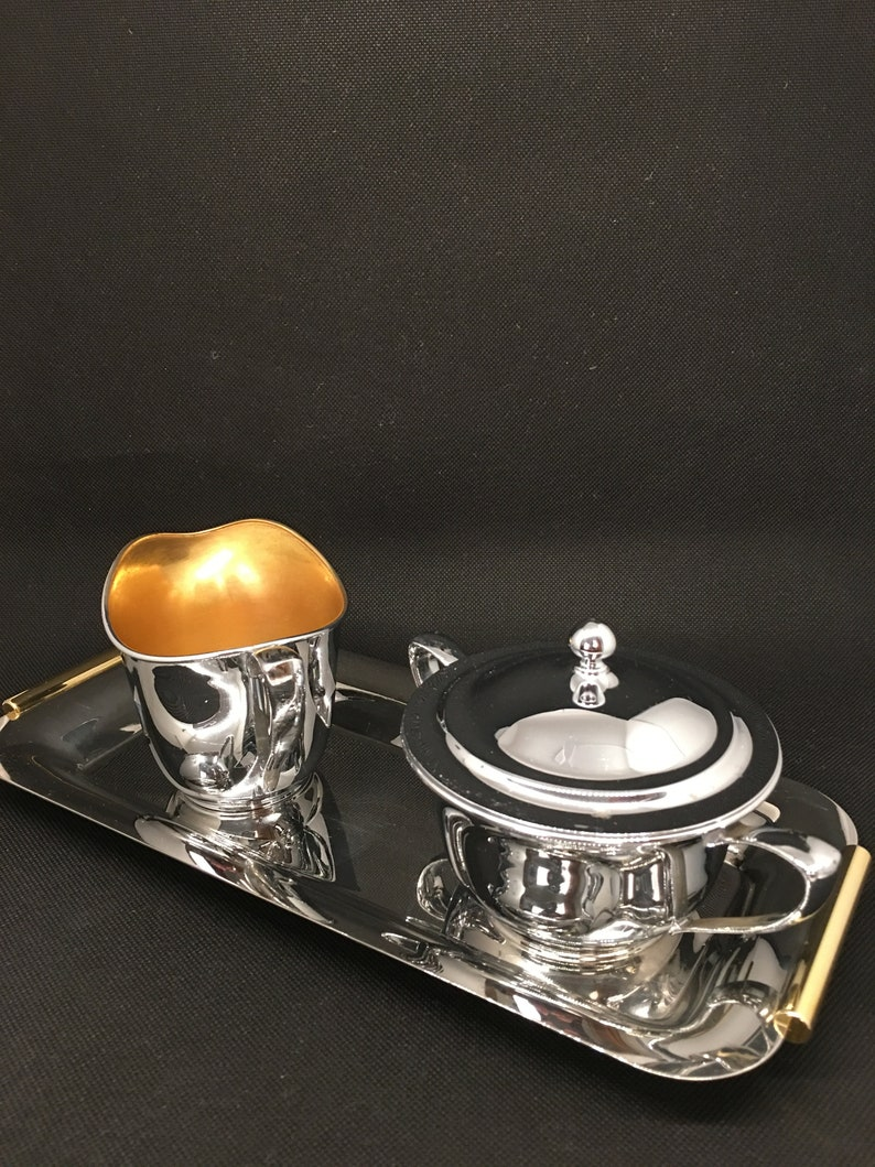 inoxbeck tray italy LF/&C Universal creamer and sugar bowl set