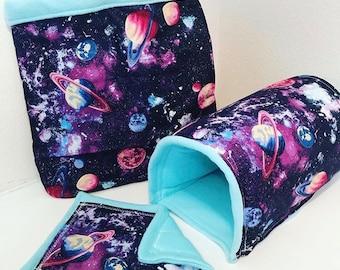 Galaxy cuddle sack, tunnel,& removable pad