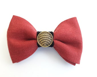 Advanced and modern men's fly with gold button-pre-bound-adjustable size
