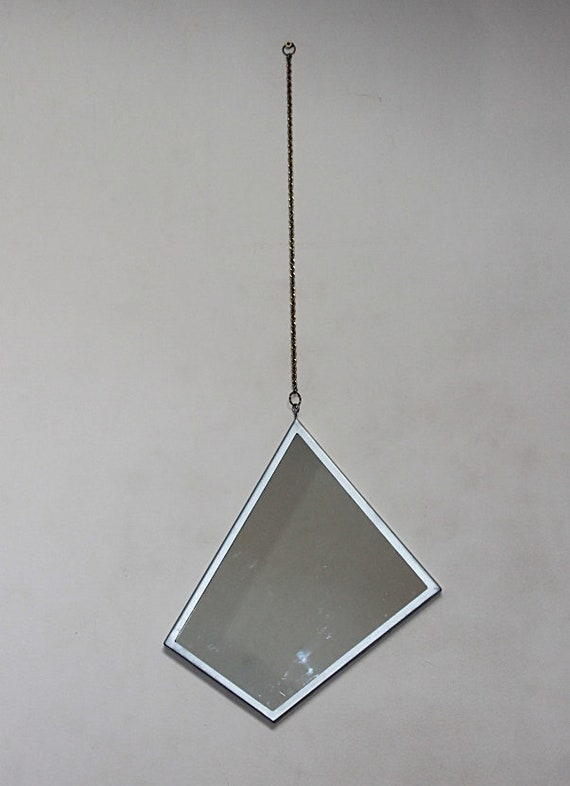Framed modern mirror Champagne Silver Art Deco Geometric Wall Mirror Stained Glass Mirror Framed Wall Mirror On Chain Modern Mirror Hanging Mirror Boho Mirror Glass Wall Decor Welcomentsaorg Art Deco Geometric Wall Mirror Stained Glass Mirror Framed Etsy