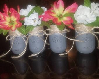 Set of 4, 4oz mason jars