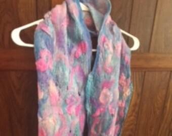 Multi-Dimensional Nuno Felted scarf