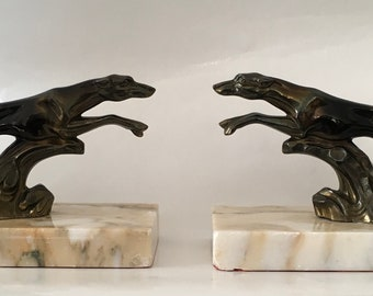 ART Deco Books support with greyhounds dogs