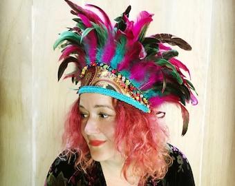 Feathered headdress