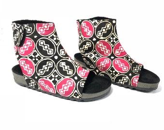 Batik Kawung Boots for Casual Shoes woman