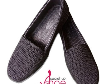 Wedges Grey Knitted for woman