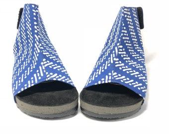 Batik Blue Parang Boots for Casual Shoes woman