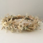All neutral creamy white dried flower crown