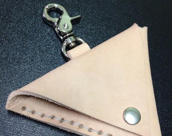 small bag leather triangle