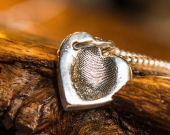 fingerprint/thumbprint/ silver jewellery