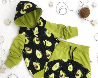 Avocado Unisex Toddler Hoodies Fleece Pull Over Sweatshirt for Boys Girls Kids Youth