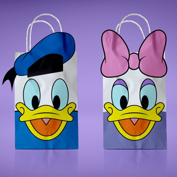 Donald Duck And Daisy Printable PDF Favor Bag Birthday Party