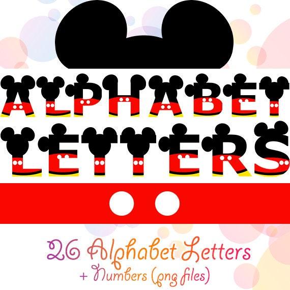 36 Png Mickey Alphabet Buchstaben Maus Digitale Buchstaben Etsy