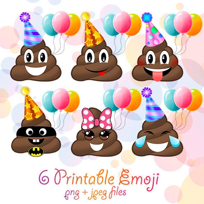 Png Emoji Clipart Poop Birthday Party Decorations Smiley Faces Poop Invitations Printable Emoticon Design Happy Smile Feelings Poop Clipart