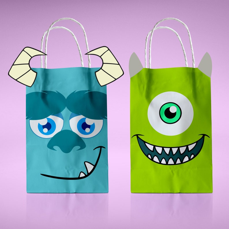 5d1a418d81ed Monsters Inc Favor Bags Mike Sulley Monsters University Gift
