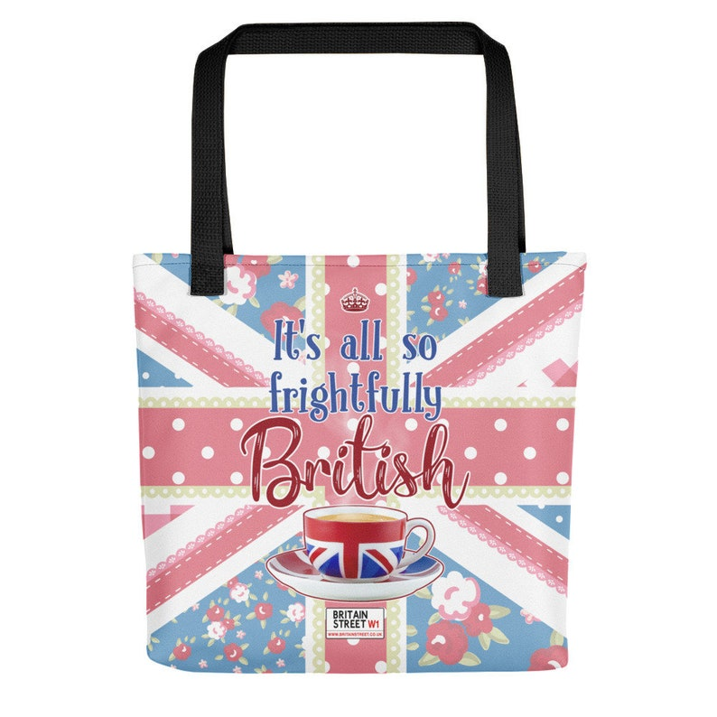 It's All So Frightfully British' Tote bag image 0
