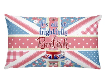 It's All So Frightfully British' Throw Pillow