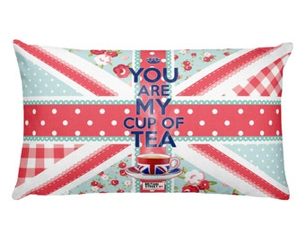 You Are My Cup of Tea' Throw Pillow