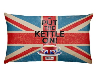 Put The Kettle On!' Throw Pillow